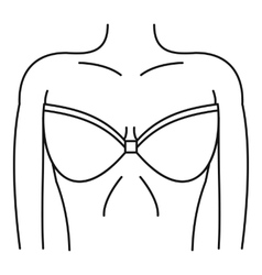 Women wearing in a bra icon simple style vector image