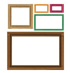 Wooden colored vintage frames vector image vector image