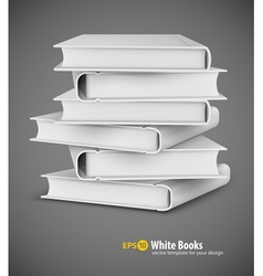 Big pile of white books vector image vector image