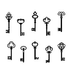 Old antique keys vector image