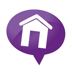 Speech bubble with real estate house icon vector