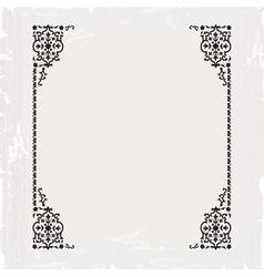 Calligraphic ornate vintage frame border vector