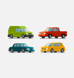 cars icons set transport transportation vector image