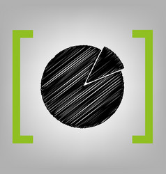 finance graph sign black scribble icon in vector image