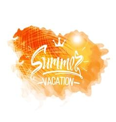 Summer vacation symbols of Summer holidays vector image vector image