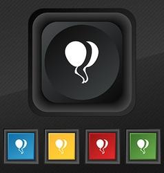 Balloon Icon symbol Set of five colorful stylish vector image