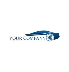 Blue car logo vector image