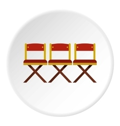 Cinema chair icon flat style vector image