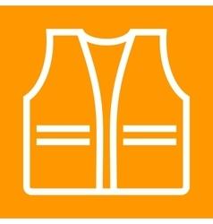 Construction jacket vector