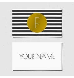 business card bwgold 2015 7 vector image vector image