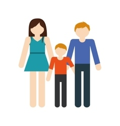 family mom dad and son together members vector image vector image