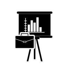 graph chart and briefcase icon vector image