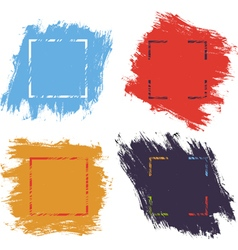 Ink brush strokes color vector