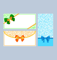 realistic color bows collection vector image vector image