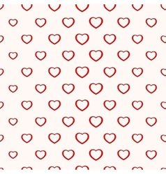 Seamless simple minimalistic heart background vector