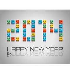 2014 New Year background with coloful plastic vector
