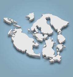 3d isometric map san juan islands vector