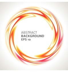 Abstract red orange and yellow swirl circle bright vector image