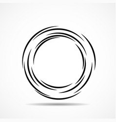 abstract technology spiral circles geometric logo vector image