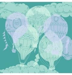 Air Balloons Backgr-12 vector image