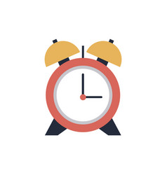 Alarm clock school time hour image vector