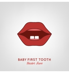 Baby First Teeth vector image