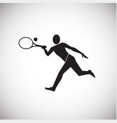 big tennis player on white background vector image