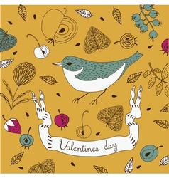 bird nature background vector image
