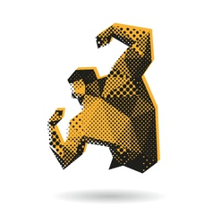 Bodybuilder abstract isolated vector image
