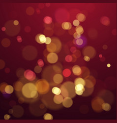 Bokeh blur color abstract background with lights vector