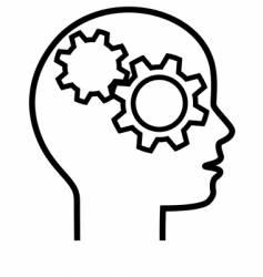 brain cogs vector image