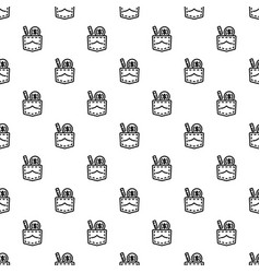 bribery pocket money pattern seamless vector image