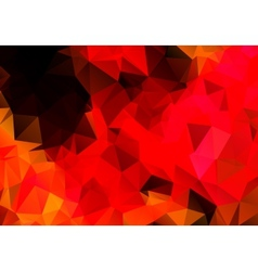 Bright abstract red background polygon vector
