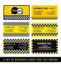 Business card taxi - eighth set vector