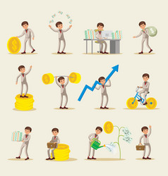 Business investment characters set vector