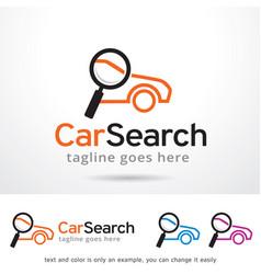 Car search logo template vector