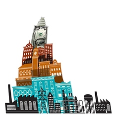 City Buildings Dollar vector image