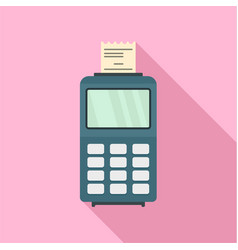 credit card payment terminal icon flat style vector image