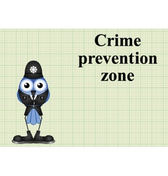 Crime prevention zone UK vector