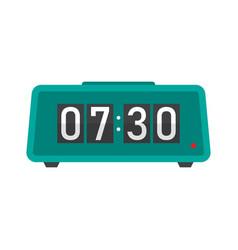 Digital alarm clock flat icon vector