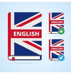 English book with download and edit vector image