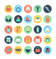 Fashion and Beauty Colored Icons 2 vector image