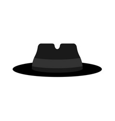 fedora hat isolated detective hat cap spy vector image