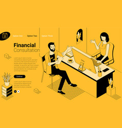 financial consulting concept for web page vector image