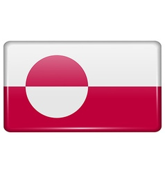 Flags Greenland in the form of a magnet on vector