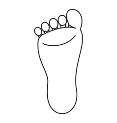 Foot icon simple style vector