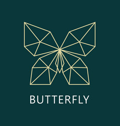 geometric butterfly logo vector image