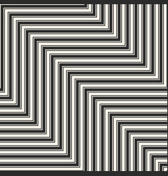 Geometric zigzag lines seamless black pattern vector