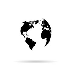 globe silhouette vector image