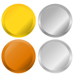 Gold silver bronze and platinum badges seals vector